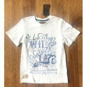 "Catimini White Graphic T Shirt ""Wild For Style"" 8"